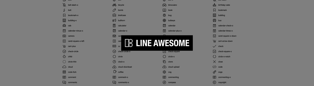 Anteprima Line Awesome